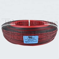 Black and red speaker cable