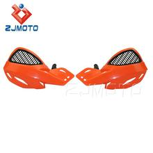 ZJMOTO Orange Motorcycle Handguards Off Road Dirt Bike Scooter ATV MX Motocross Motorcycle Hand Guards