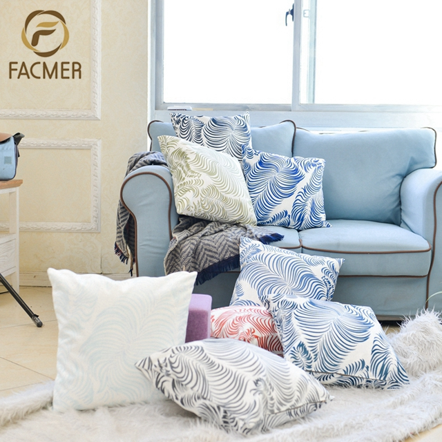 Promotional Digital Printed Custom Design Feather chair back Cushion Covers