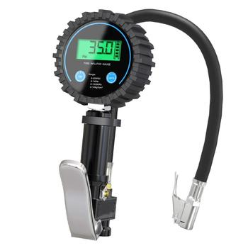 Digital Air Tire Inflator pressure Gauge With Chuck Hose