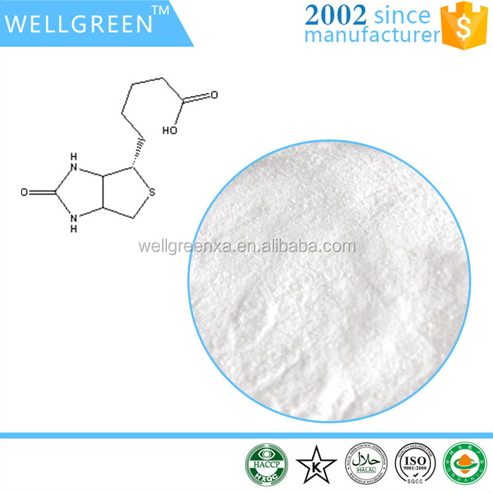 WELLGREEN high quality hair growth biotin Vitamin H 58-85-5