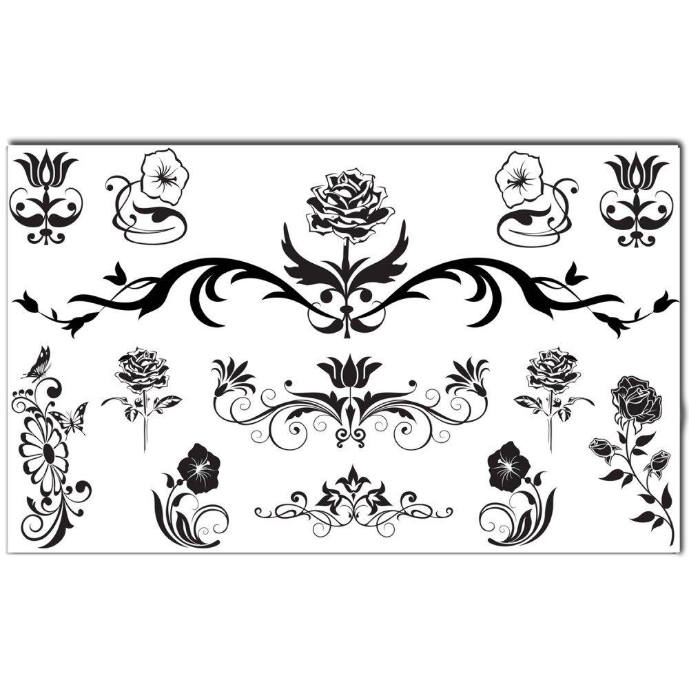 Cheap Flower Tattoos Black Find Flower Tattoos Black Deals On Line