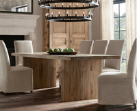 Hot sale American retro modern Wood retro dinning table