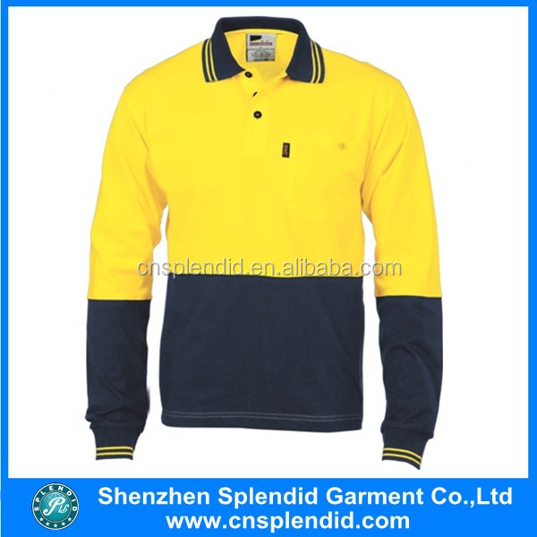 High Visibility Reflective long sleeve Safety Workwear uniform for labours