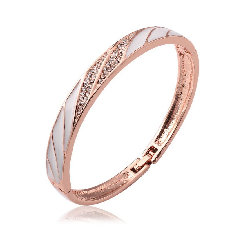 Name Brand Bracelets: VGBA183 Brand Name Luxury Jewelry Trendy Enamel Bracelet