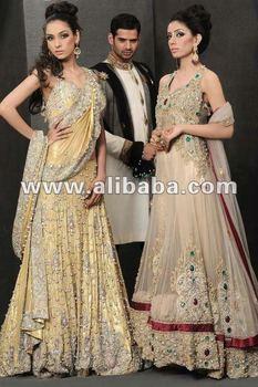 Pakistani Bridal Wedding Dress Sharara Gharara