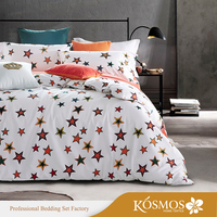 KOSMOS lovely bedding star printed cotton childrens quilt covers