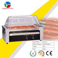 5/7/9/11 rollers automatic hot dog grill/hot dog warmer/hot dog roller