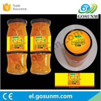 PET/PVC/Paper/PP/Bopp/Vinyl waterproof jar label