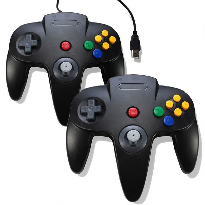 For Nintendo 64 Accessories Wired Controller PC US Gamepad Joystick