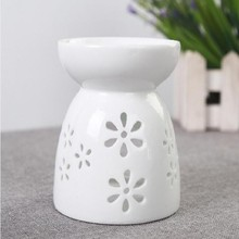 iron furnace hanging aroma fragrance palster diffuser cheap ceramic cup shape oil burners