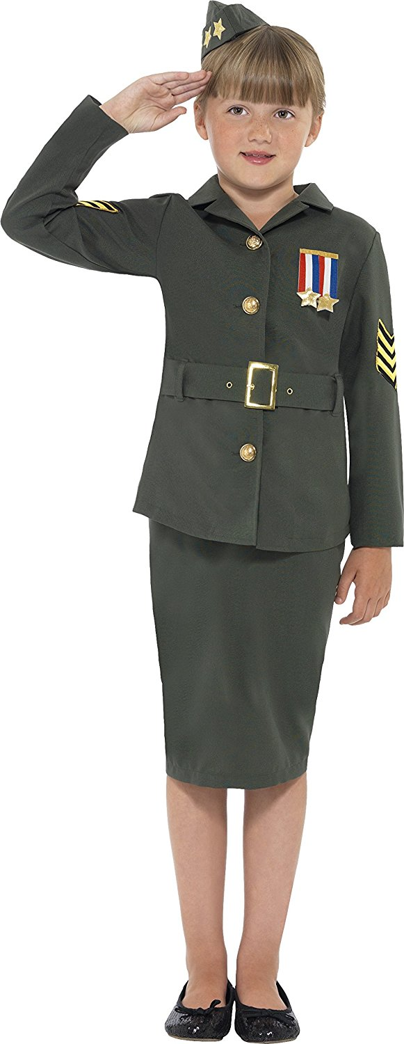 Get Quotations · Smiffyu0027s Kids WW2 Army Girl Costume Jacket Skirt Attached Belt and Hat  sc 1 st  Alibaba & Cheap Army Costume Kids find Army Costume Kids deals on line at ...