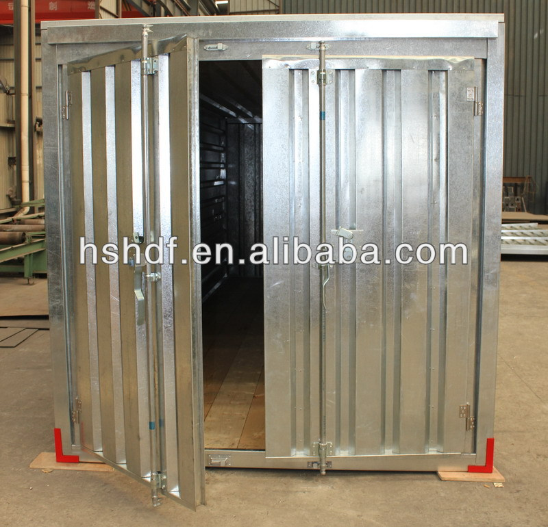 Low cost portable steel galvanized storage container