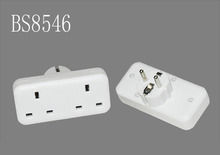 Double UK socket to EU Plug Adapter Converts 2 pin Euro Wall Plug travel electric adapter