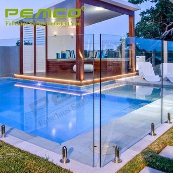 High polish 304 316 stainless steel frameless glass pool for Pool design company radom polen