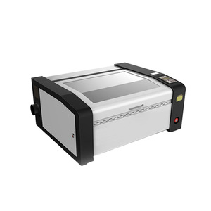 Good price sandpaper textile PVC double head 40w min polycarbonate hologram laser engraving and cutting machine