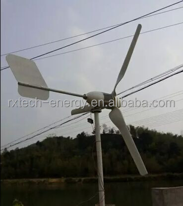 Low RPM 3kw wind turbine generator, full power windmill used for land and marine, Horizontal wind turbine 3 blades