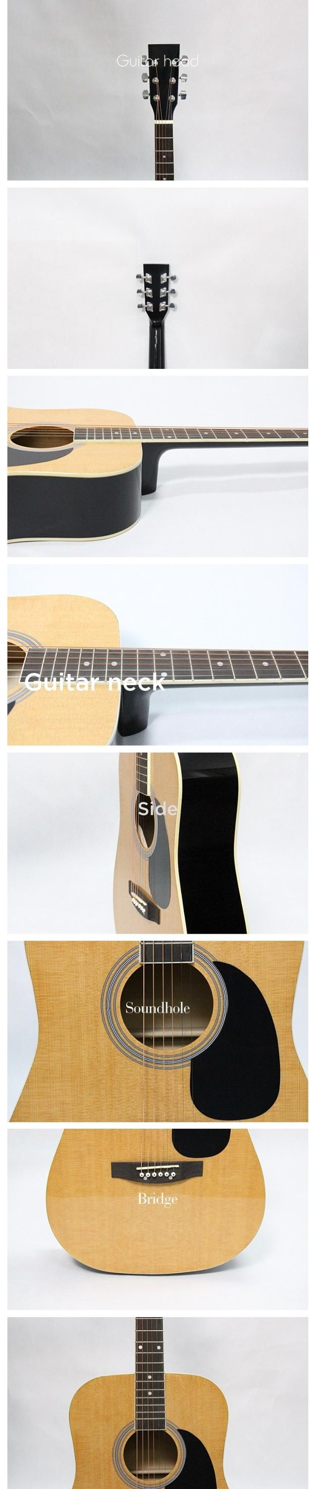 FAG-130 Wholesale Price Musical Instrument Custom 41 Inch Acoustic Guitars