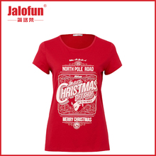 factory export christmas custom women's shirts 3d letters t-shirt printing