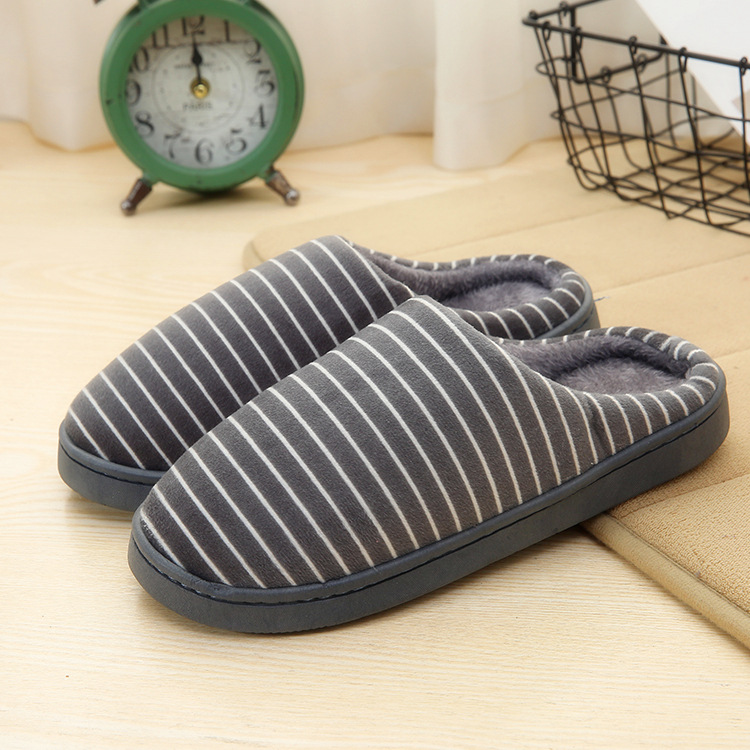 Men Women Simple Winter Indoor Home Adults Rubber Cotton Slippers