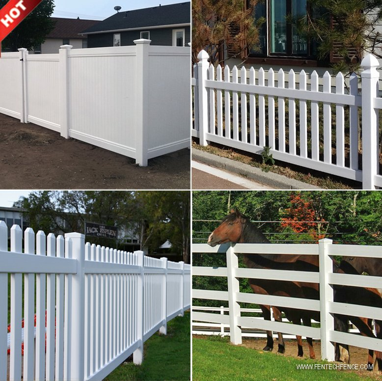 Strong UV Protection Vinyl Plastic PVC Fence