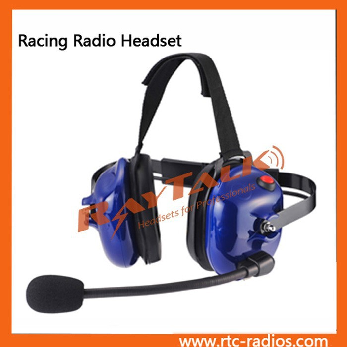 Walkie talkie Heavy Duty Headset with PTT on Earcup with XLR Jack