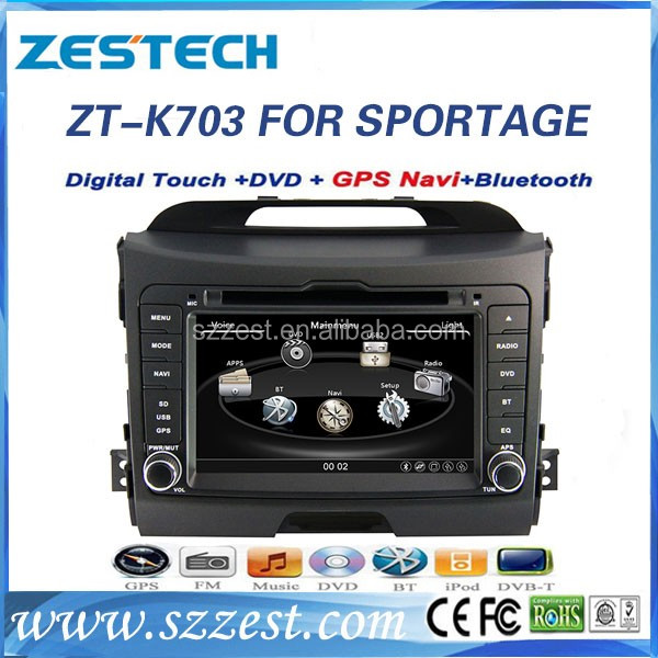 for kia sportage car multimedia player 2011 with GPS navigation SD USB BT phonebook radio 3G
