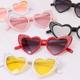 2018 newest fashion lady and kids stone heart shape sunglasses