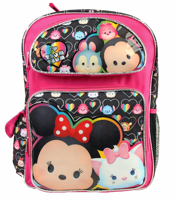 5738f1c1d3 Disney Tsum Tsum 16 Kids Girls Large School Backpack Book Backpack