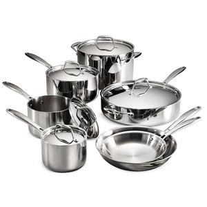 High Quality Indian Style Stainless Steel Cookware Cooking Pot/Pan Sets