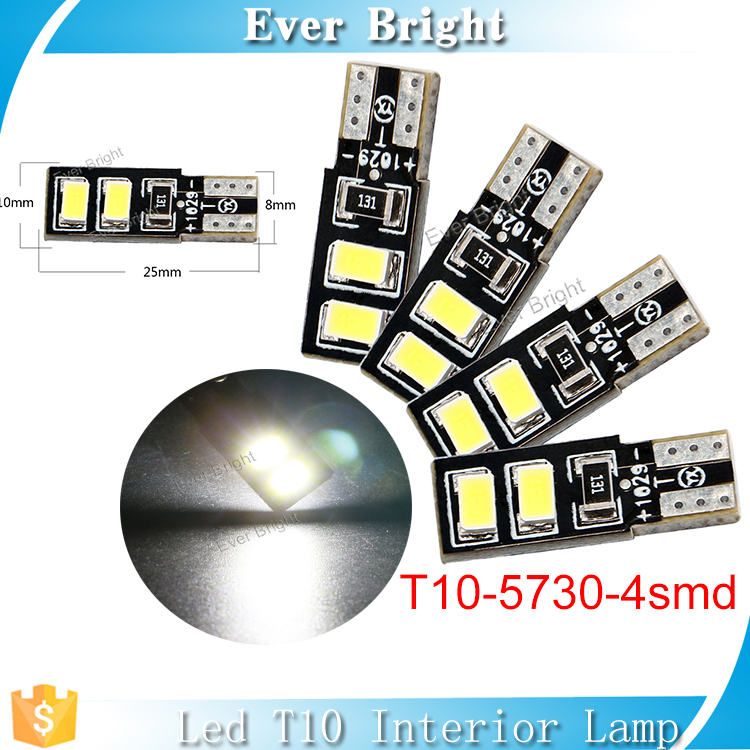 Low cost auto indicator light T10 led 2017 trending products t10 w5w bulbs 4 smd led 5730 car map reading light