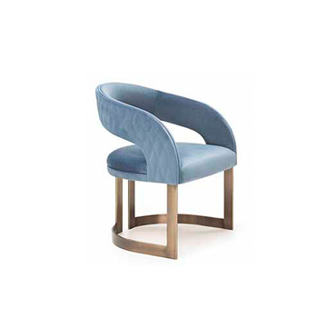 modern Furniture Fabric Chair living room stainless steel ...
