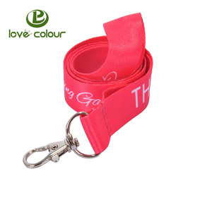 Polyester custom high quality red craft lanyard with white logo