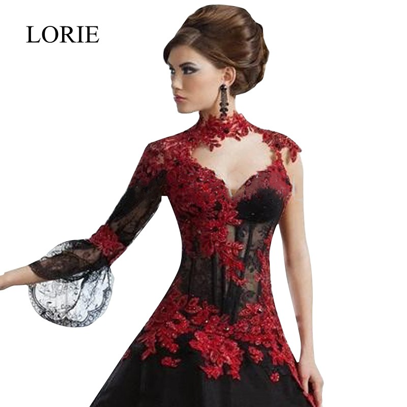 Red And Black Gown: Aliexpress.com : Buy Real Black Gothic Ball Gown Wedding