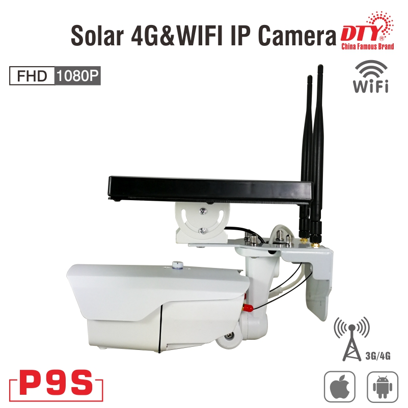 50W TOP-V gsm solar powered p2p 4g cctv camera