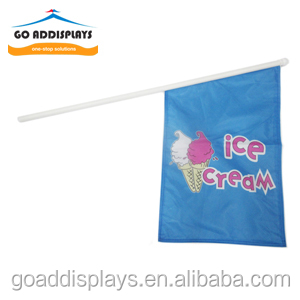 Custom outdoor and indoor 40x60cm wall flag with 90cm plastic pole