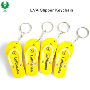 Customized Mini Sandal Keychain, EVA Floating Flip Flop Keychain