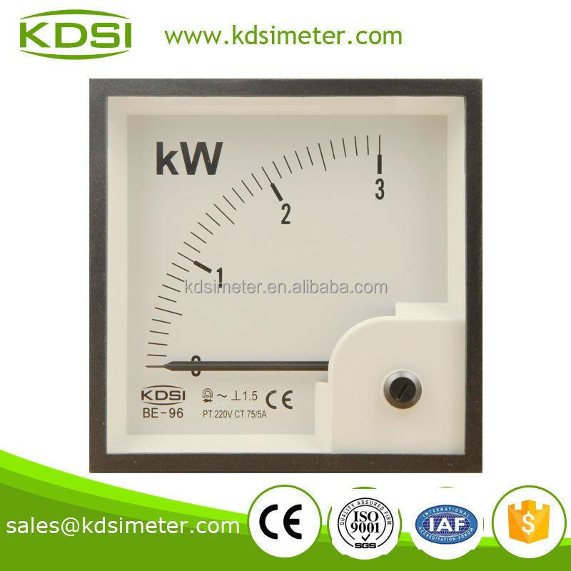 Watt Draw Meter: Be-96 Power Meter 3kw 220v 75-5a Analog Kw Panel Meter