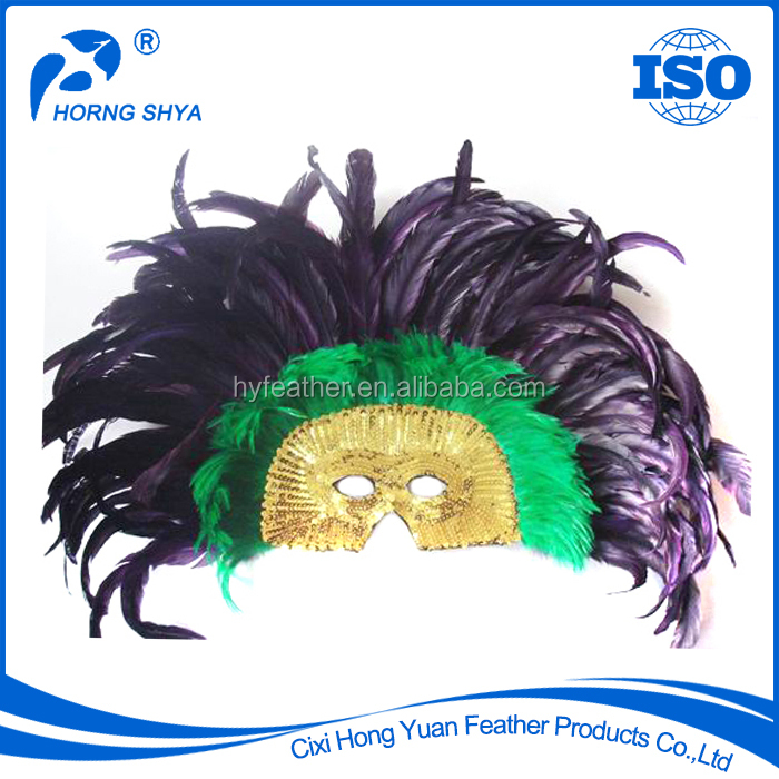 Wholesale High Quality CM-146 Mask For Masquerade Carnival Party, Luxury Purple Customized Halloween Decoration Mask