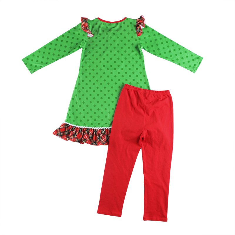 Newst baby girls clothing sets kids christmas Santa Claus children hot sale outfits