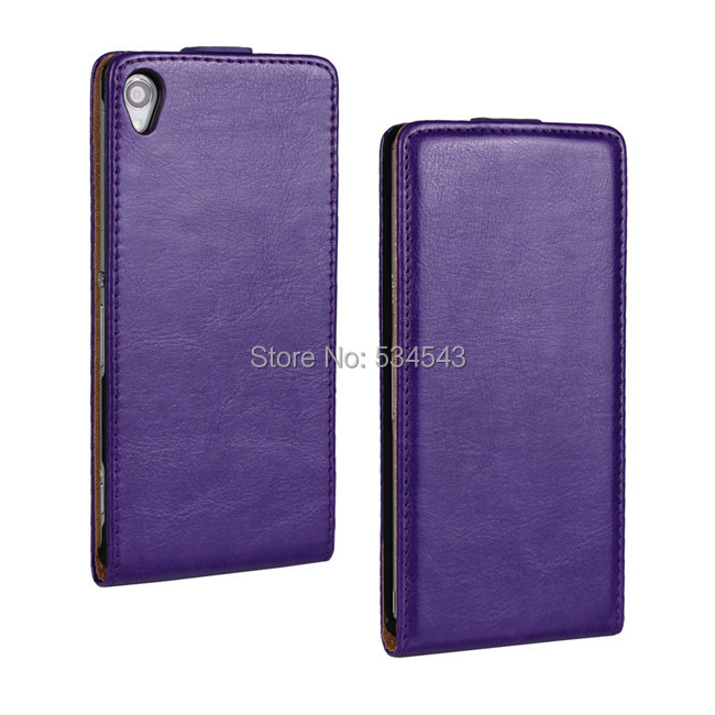 2015 sales! Crazy Horse lines Korean upper and lower open mobile phone holster for Sony Xperia Z3