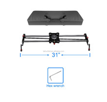 80cm carbon fiber electronic video camera slider timelaspe following focus and pan shooting video camera slider motorized