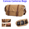 Multifunctional Canvas Messenger Cameras Bags Travel Crossbody Shoulder Tablet Bag with Interior Lining