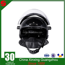 ABS riot control police helmet with transparent visor