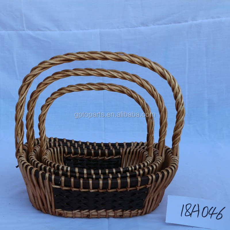 2019 fashion Wine Picnic  Wicker Willow Basket