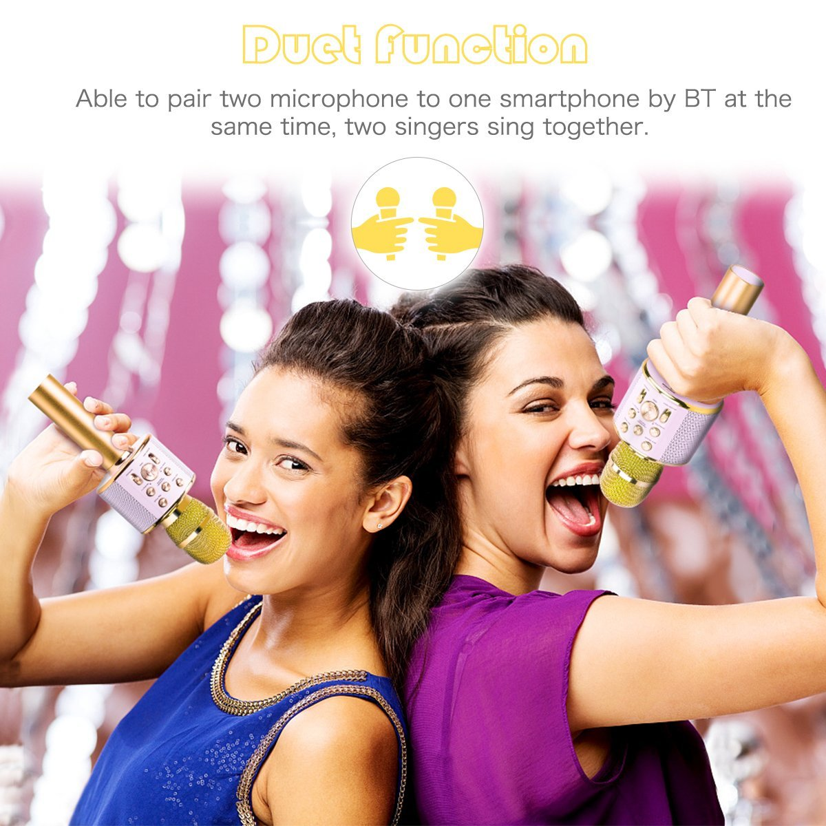 Competitive Price Karaoke Microphone Wireless Speaker for Mobile Party