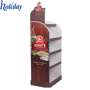 Holiday fresh banana cardboard display stand