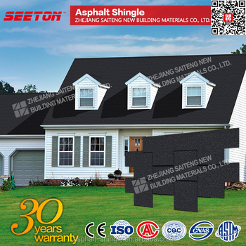 Onyx Black 4 Tab Fibergl Roofing Materials Asphalt Shingles Factory Direct