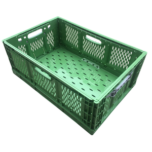 600*400*220 food grade folding crate collapsible plastic fruit and vegetable crate