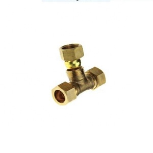 Reducing tee PE fittings brass pipe fitting for plumb